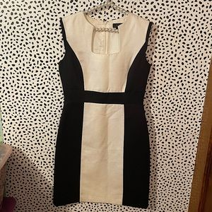 Tahari by Arthur Levine black and white dress